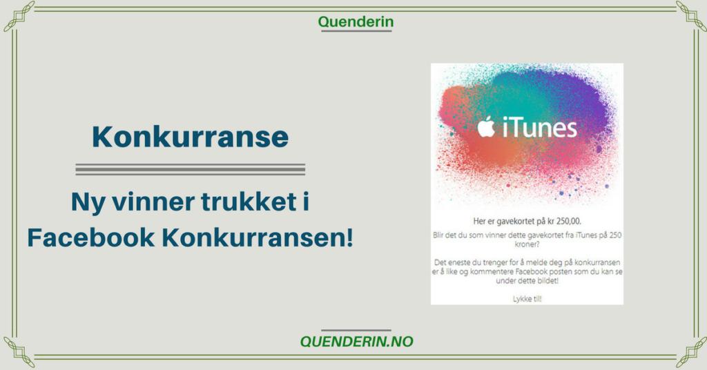 Konkurranse - Ny vinner av Gavekortet på 250 kroner fra iTunes