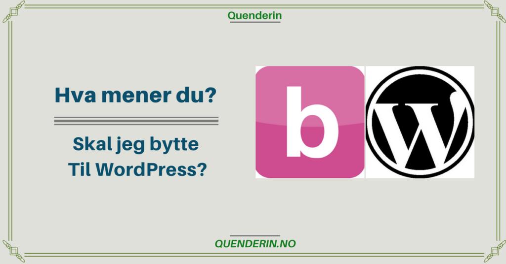 Hva mener du? - Skal jeg flytte til WordPress?