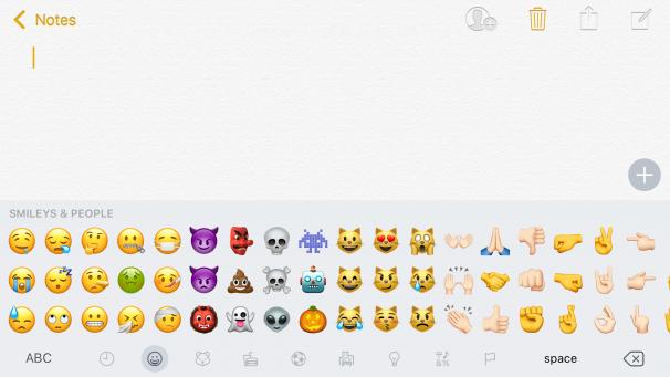 iOS 10.2 Utvikler Beta 1 - Smileys