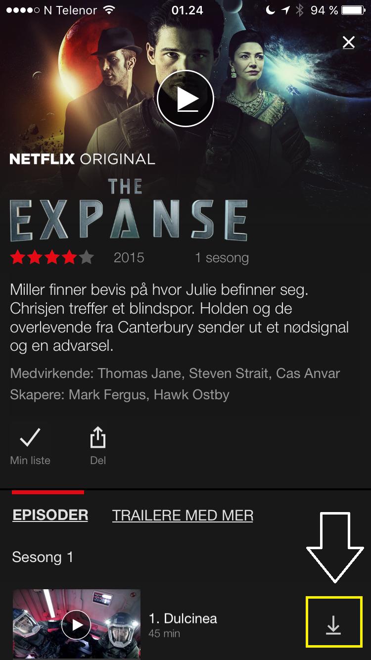 Nyhet: Nedlasting av titler fra Netflix -Shooter Poster